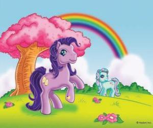 Zwei Pony auf dem Grünen puzzle