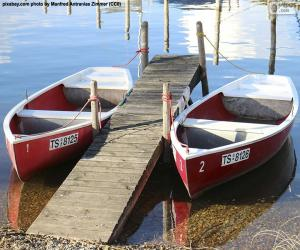Zwei Ruderboote puzzle