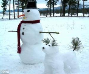 Zwei Schneemänner puzzle