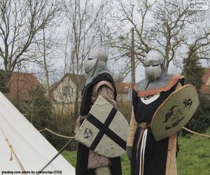 Zwei Soldaten des Mittelalters puzzle