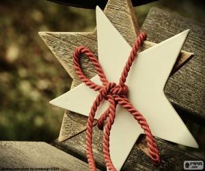 Zwei Sterne aus Holz puzzle