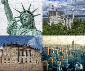 Häuser, Städte und Denkmäler puzzles