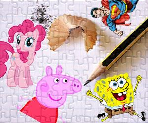 Zeichentrickfiguren  puzzles