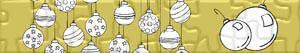 puzzles Christbaumkugel oder Weihnachtskugeln