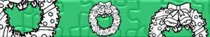 puzzles Weihnachts kränze und girlande