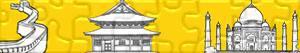 puzzles Denkmäler und andere Sehenswürdigkeiten in Asien