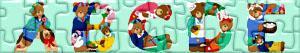 puzzles Buchstaben mit Bären