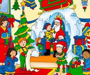 Caillou Weihnachten.Caillou Weihnachten Puzzle Zum Ausdrucken